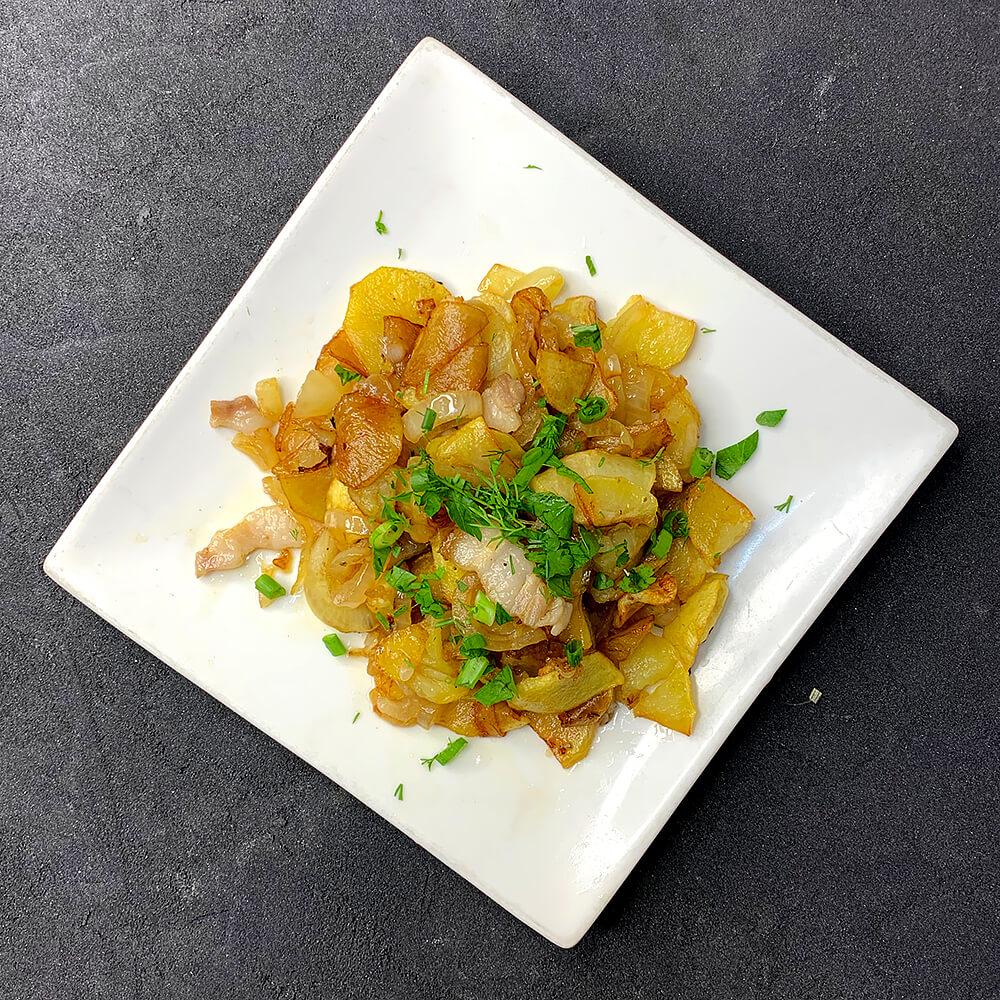 Картопля смажена по-домашньому на салі